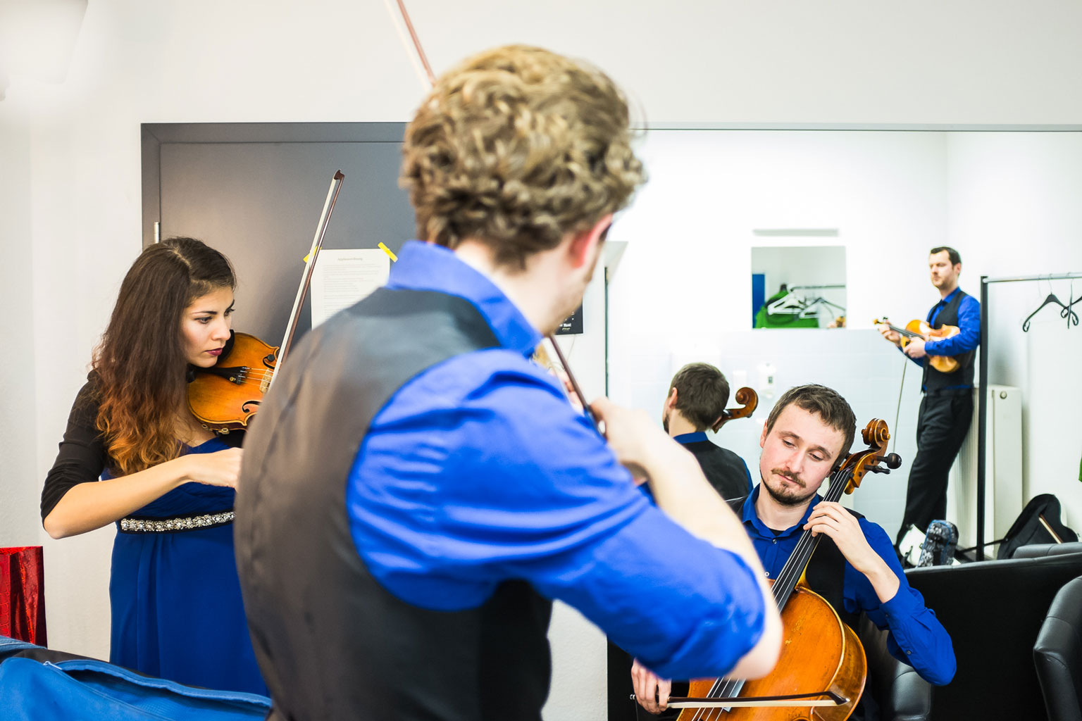 Feuerbach Quartett - Backstage Probe